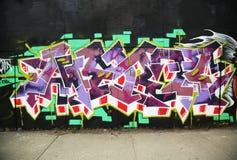Graffiti art at Metropolitan Avenue in Brooklyn. Stock Image