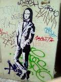 Graffiti art. Mona liza chez royalty free stock photo
