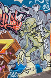 Graffiti art off Brunswick Street in Fitzroy, Melbourne Stock Photo
