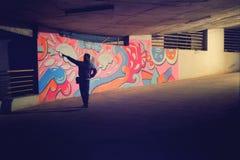 Graffiti art at parking. royalty free stock images