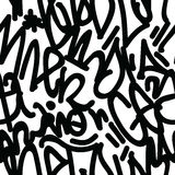 Graffiti Art Seamless Pattern Stock Afbeeldingen