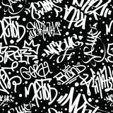 Graffiti Art Seamless Pattern Royalty-vrije Stock Foto
