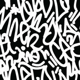 Graffiti Art Seamless Pattern Stock Foto's