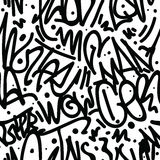 Graffiti Art Seamless Pattern Royalty-vrije Stock Fotografie