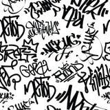 Graffiti Art Seamless Pattern Stock Photos