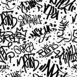 Graffiti Art Seamless Pattern Stock Photography
