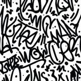 Graffiti Art Seamless Pattern Royalty Free Stock Photography
