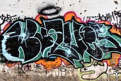 Graffiti Art Under Bridge - Vandalism royalty free stock photos
