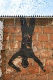 Valparaiso cityscape, Chile. Graffiti art of Valparaiso in Chile stock photography