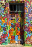 Graffiti Art in valparaiso, Chile Royalty Free Stock Photos