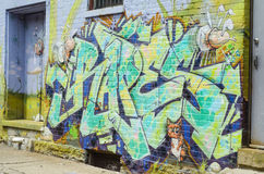 Graffiti art on wall Royalty Free Stock Images