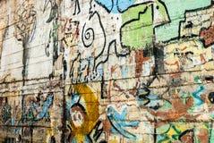 Graffiti - arte della via - pittura Immagine Stock