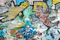 Graffiti - arte della via - pittura Fotografia Stock Libera da Diritti