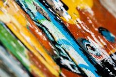 Graffiti - arte della via - pittura Fotografie Stock Libere da Diritti