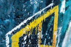 Graffiti - arte della via - pittura Immagini Stock
