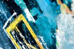 Graffiti - arte della via - pittura Immagine Stock Libera da Diritti