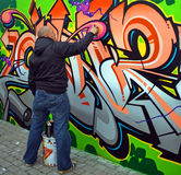 Graffiti Artist. From all over Europe descended on Limerick City last October for a Graffiti demo. Limerick city Council invited the 's to show that graffiti is Royalty Free Stock Images