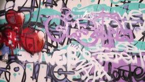Graffiti artist stock video