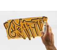 Graffiti artist at work Stock Photography