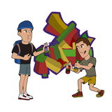 Graffiti artists cartoon Royalty Free Stock Photos