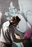 Graffiti artysta Zdjęcia Royalty Free