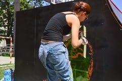 Graffiti artysta Zdjęcie Stock