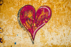 Graffiti. As a dark red heart stock photos