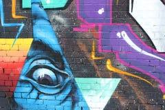 Graffiti astratti nello stile di urbano Fotografia Stock