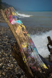 Graffiti au rivage Images stock