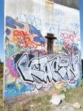 Graffiti auf Aussichtsturm Stockbilder