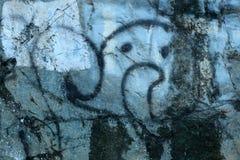 Graffiti auf dem Felsen lizenzfreies stockfoto