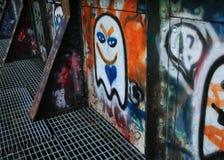 Graffiti auf den Bahnen Lizenzfreie Stockbilder