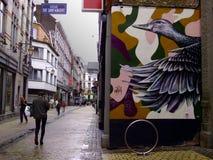 Graffiti auf den Straßen von Lüttich Lizenzfreie Stockfotografie