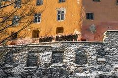 Graffiti auf den Wänden der alten Stadt in Tallinn Estland Lizenzfreies Stockfoto
