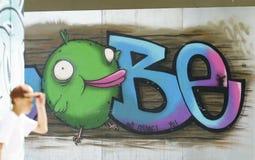 Graffiti auf der Wand Lizenzfreies Stockbild