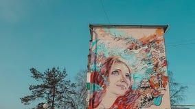 Graffiti auf der Wand stock video