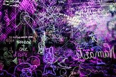 Graffiti auf einem klaren Acrylbrett Stockfotos
