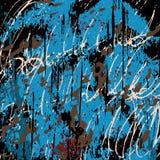 Graffiti auf einer schwarzen Hintergrundvektorillustration Stockfotografie
