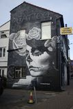 Graffiti auf einer Wand in Croydon lizenzfreies stockbild
