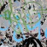 Graffiti auf einer Wand - Detail Graffiti gemalt auf einer Wand Stockfotos