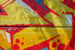 Graffiti auf einer Wand - Detail Graffiti gemalt auf einer Wand Lizenzfreie Stockbilder
