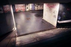 Graffiti auf Untergrundbahnwänden Lizenzfreie Stockbilder