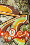 Graffiti auf Wand. stock abbildung