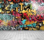 Graffiti auf Wand stock abbildung
