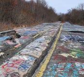 Graffiti autostrada Zdjęcie Stock