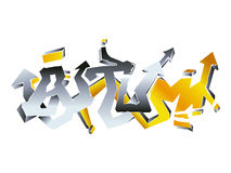 Graffiti autumn Royalty Free Stock Photography
