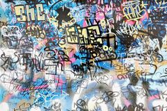 Graffiti background. Abstract colorful graffiti wall as a background Royalty Free Stock Image