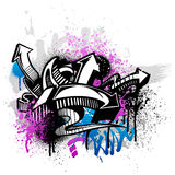 Graffiti background stock illustration