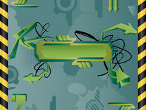 Graffiti Background. Vector abstract grunge background with banner Royalty Free Stock Images