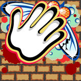 Graffiti background with dead fly Stock Photography